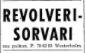 Työpaikkailmoitus Revolverisorvaaja